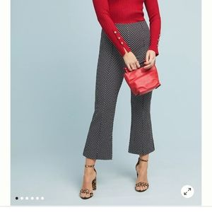 Anthropologie the essential  crop flare  pants 8